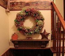 hydrangea wreath, crafts, wreaths, Finished Hydrangea Wreath