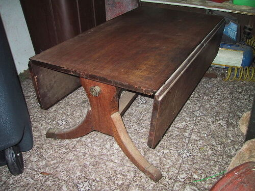 drop leaf coffee table - Suggestions On How To Refinish A Damaged Drop Leaf Coffee Table