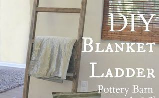 diy blanket ladder pottery barn knock off, diy, home decor, how to, living room ideas, repurposing upcycling, woodworking projects
