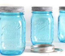 how to age new blue mason jars lids, crafts, mason jars, painting, How to age shiny new Mason jar lids to look vintage masonjars