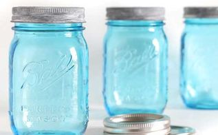 how to age new blue mason jars lids, crafts, mason jars, painting, How to age shiny new Mason jar lids to look vintage masonjars