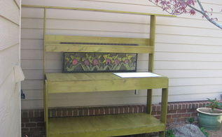 potting bench, decks, diy, outdoor living, woodworking projects