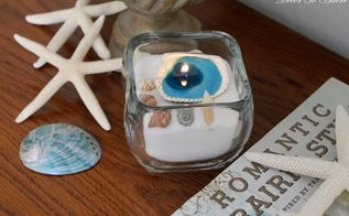 fast and easy seashell candles, crafts