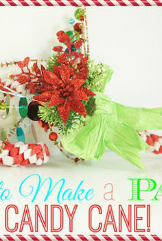 how to make a paper candy cane, crafts, seasonal holiday decor, How to make a paper candy cane