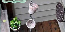 diy rain chain, flowers, gardening, outdoor living, A rain chains can be functional if used in place of downspout but mine is more of a lovely little water feature