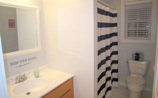 diy bathroom makeover, bathroom ideas, AFTER