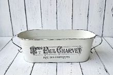 french made metal pot, home decor