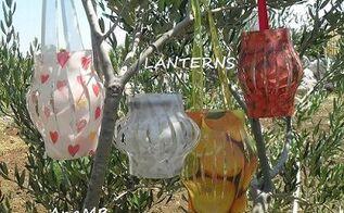 simple garden lanterns, crafts, lighting, outdoor living