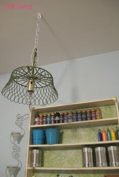 how to make an upcycled diy pendant lamp, craft rooms, electrical, repurposing upcycling, If you ve got an cute but broken item around your house like I had this Crate and Barrel fruit basket you can make an upcycled pendant lamp