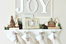 joy christmas mantel 2012, christmas decorations, fireplaces mantels, seasonal holiday decor