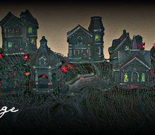 haunted village, seasonal holiday decor, Haunted Village