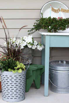 adding fall to a summer container garden, container gardening, gardening