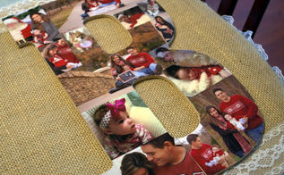 diy wooden letter photo collage, crafts