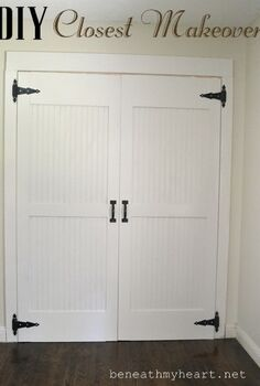 diy cottage closet door makeover, closet, diy, doors, how to, tools, woodworking projects, DIY Closet Door Makeover