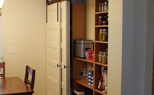 new pantry build with sliding barn style doors budgetupgrade, closet, doors, home decor, kitchen design