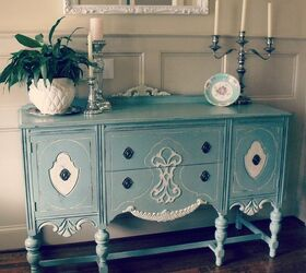Hand Painted Furniture, Chalk Paint, Painted Furniture, Antique Buffet  Painted In Duck Egg
