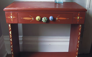 red riding hood desk for my little red riding hood, painted furniture