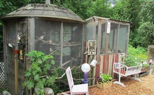 satellite dish bird cage, diy, pets animals, repurposing upcycling, Satellite dish bird cage roof