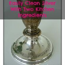 easily and naturally clean silver, cleaning tips, go green, I tested just the base to see if I could get off the tarnish