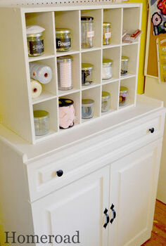 repurposing a garage sale cabinet, kitchen cabinets, repurposing upcycling, shelving ideas, storage ideas, Replaced the hardware and painted an inexpensive shoe organizer to match