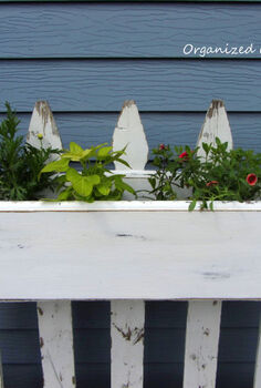 a re purposed furniture piece window box, gardening, repurposing upcycling