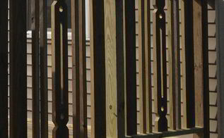 old decking upcycled into a custom railing, diy, repurposing upcycling, woodworking projects