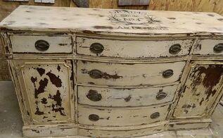 adding a graphic to furniture, painted furniture, rustic furniture
