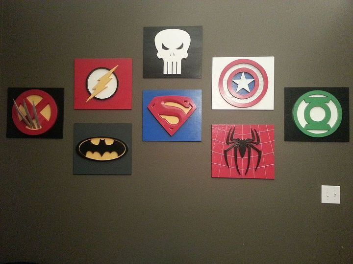 My son loves Superheroes - decorating the playroom   Hometalk