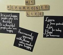 reuse repurpose those free magnets, chalkboard paint, crafts, Mini fridge signs