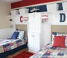 pottery barn isnpired boys bedroom reveal, bedroom ideas, home decor, Red blue and khaki and lots of beadboard was the central design plan a Nautical room any pirate would be proud of