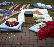 hosting a backyard movie night, outdoor living