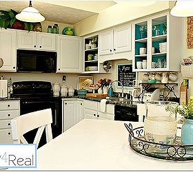 Open Kitchen Cabinets With Aqua White Lime Green And Silver Accents, Home  Decor, Kitchen Part 50