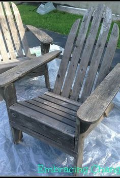 my adirondack chairs makeover reveal, painted furniture