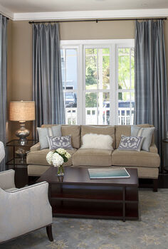 sofa placement, home decor, painted furniture, windows