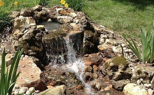 pond renovation deer park il pond construction by gem ponds, outdoor living, ponds water features, Falls running