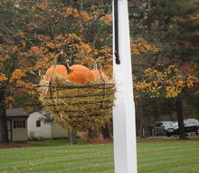 fall outside decorating, seasonal holiday decor