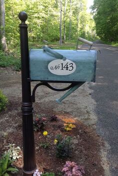 watering can mailbox, fire pit, repurposing upcycling