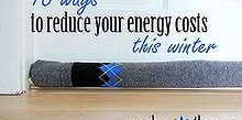 diy door socks and 15 other ways to reduce energy, crafts, doors, go green