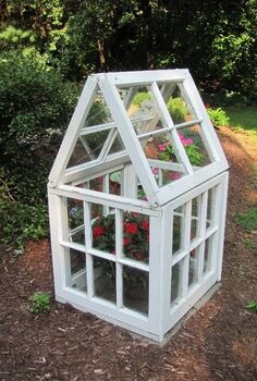my little window house, gardening, repurposing upcycling, Here it is altogether Hope you like it