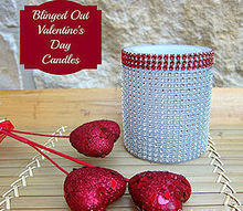 how to easily bling out your candles, crafts, seasonal holiday decor, valentines day ideas