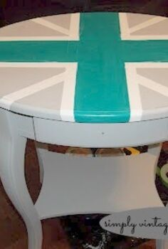 a union jack side table, painted furniture