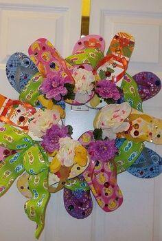 flip flop summer wreath, crafts, wreaths