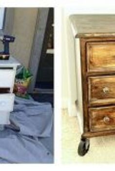 the best diy s upcycled furniture projects and tutorials by redoux, painted furniture, repurposing upcycling, I used an old Country Style Broyhill dresser that was a free to me Stripped and stained it using a mottled stain method Added Vintage Reproduction Casters and knobs Completely new look