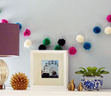 how to make easy yarn pompom garland, crafts, seasonal holiday decor