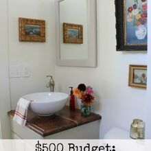 bathroom update on a 500 budget, bathroom ideas, home decor, We were able to update our bathroom with a small budget of 500