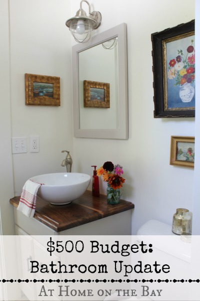 Bathroom update on a 500 budget hometalk for Bathroom update ideas