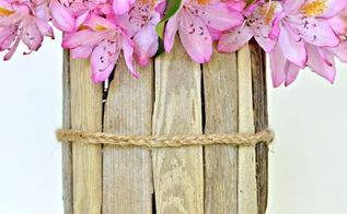 diy coastal decor how to make a driftwood vase, crafts, home decor, Braided jute twine