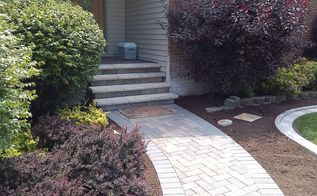 crown point driveway project, concrete masonry, curb appeal, outdoor living