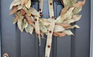diy magnolia wreath, crafts, wreaths, Welcome with a magnolia wreath