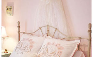 creating a cheap bed crown for a little girl s bedroom, bedroom ideas, crafts, home decor, Perfect